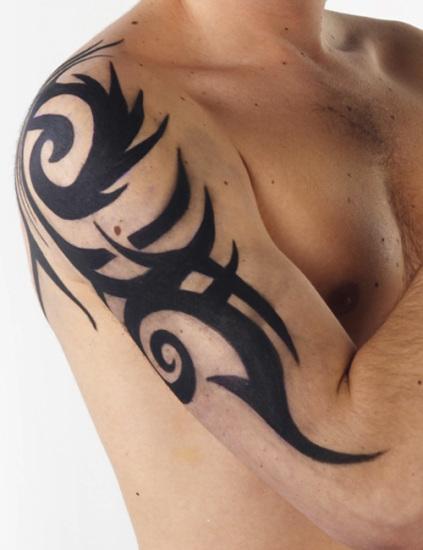 Amazing Half Tribal Sleeve Tattoo Ideas for Men