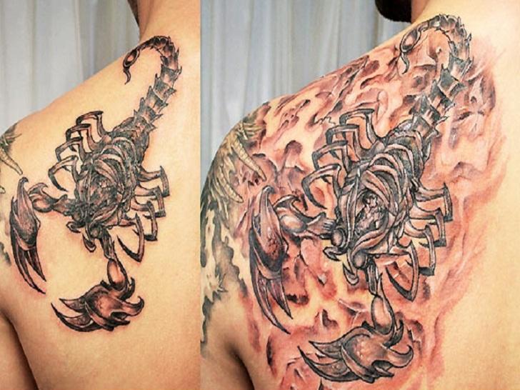 Amazing Scorpion Flames Tattoo Designs for Men