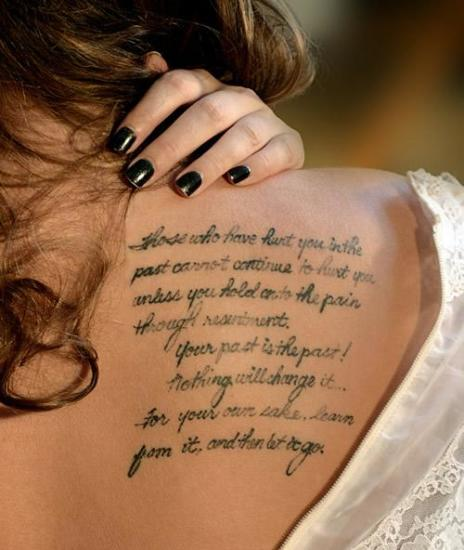 Amazing Tattoo Quotes for Women