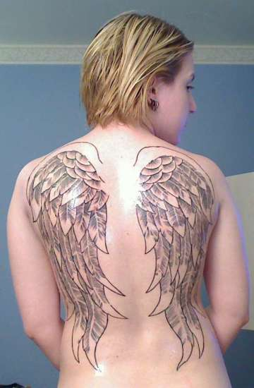 Angel Wing Tattoos For Women