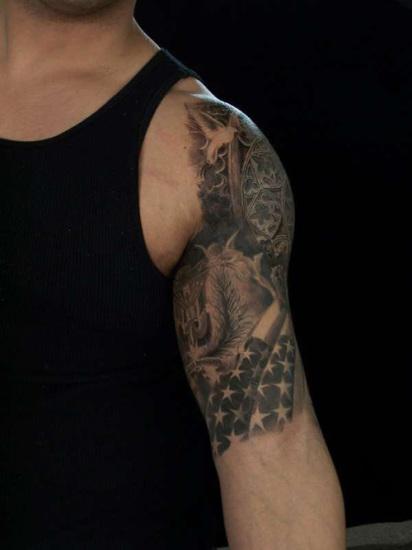 Awesome Black Quarter Sleeve Tattoo Ideas For Men