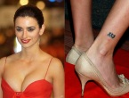 Wonderful Penelope Cruz 883 Tribal Tattoo on Right Leg
