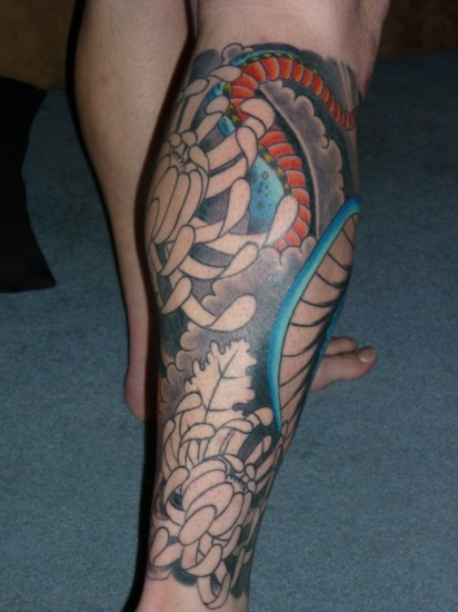 amazing leg tattoo for men