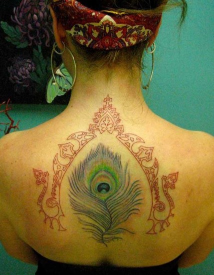 feather tattoo design for women