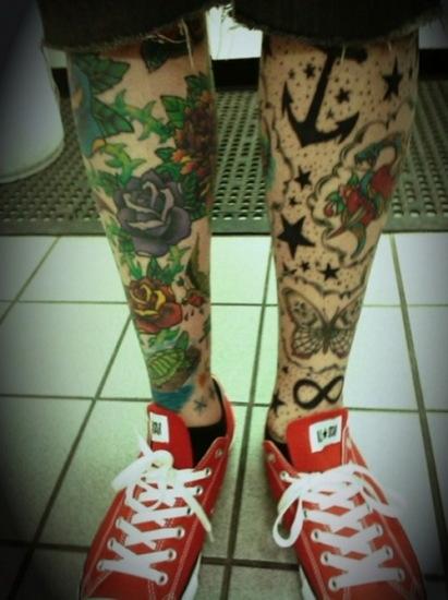 full both legs tattoo design for men