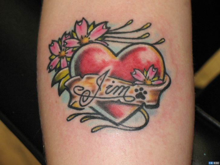 heart tattoo design for women
