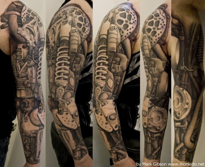 skull tattoo sleeve ideas for women