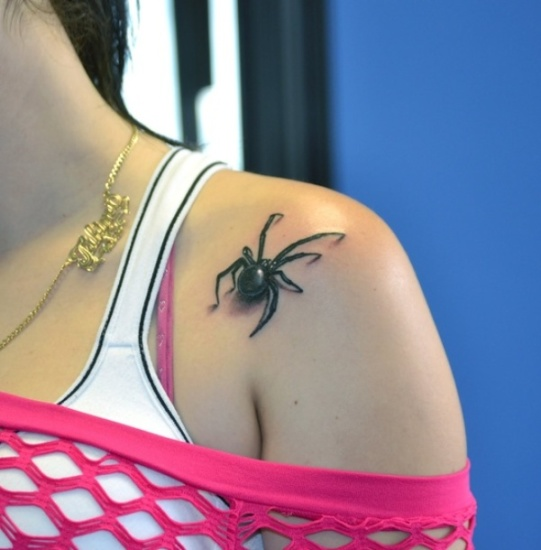 spider tattoo design for women
