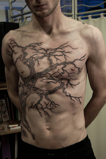 tree tattoo design for men